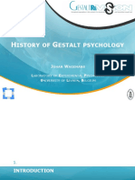 History of Gestalt Psychology
