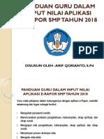 Panduan Guru Dalam Input Nilai Aplikasi E-rapor Smp Tahun 2018