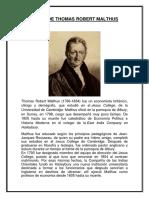 Biografia de Thomas Robert Malthus