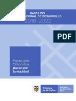 Bases Plan Nacional de Desarrollo (Completo) 2018-2022