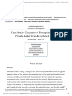 _Case Study_ Consumer's Perception Towards Private Label Brands in Retail Stores_ by Hemantha, Y.; Arun, B. K. - Advances in Management, Vol. 8, Issue 1, January 2015 _ Online Research Library_ Questia