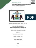 Auditoria de Cumplimiento Municipalidad de Huanuco