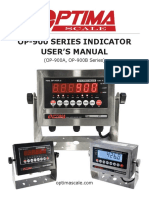 Optima Scale OP-900 Series User Manual