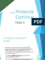 Tema 9 (Presente Continuo) [Autoguardado]
