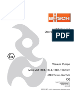 Busch Instruction Manual Mink MM 1104-1142 BV ATEX Gastight en 0870141675