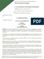 Texto de La Ley No. 40, Ley de Municipios Con Reformas Incorporadas