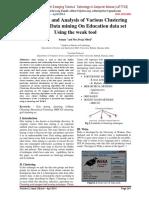 Clustering on data mining