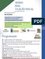 i Seminário Regional Educação Fiscal