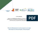 Plan de Manejo Microcuenca Las Lajas