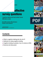 Designing Effective Survey Questions