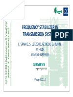 Frequency Stabilization in Transmission