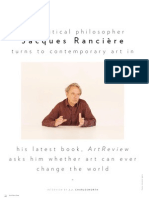 Jacques Ranciere (Art Review, Issue 40, April 2010)