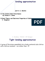 Tight binding approximation