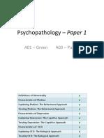 Documents a2 Psychology Paper 1 Psychopathology Powerpoint