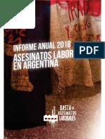 Informe anual sobre asesinatos laborales en Argentina