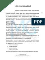 Informe de Uso de Faja Lumbar