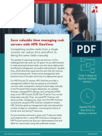 Save valuable time managing rack servers with HPE OneView
