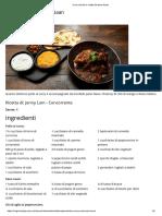 Curry Di Pollo e Ricetta Del Pane Naan