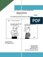 Errors in Performance Appraisal
