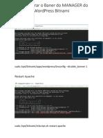 Como Retirar o Baner do MANAGER do WordPress Bitnami.pdf