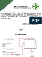 Associação Entre Os Critérios Diagnósticos Com Testes Laboratoriáis