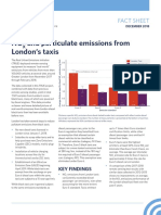 NOX and particulate emissions from London's taxis