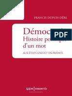 Democratie - Histoire Politique d'Un Mot