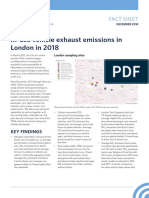 In-use vehicle exhaust emissions in London in 2018