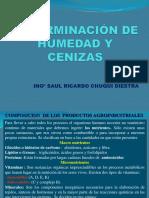 DETERMINACION DE HUMEDAD Y CENIZAS