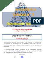 Distribución normal de probabilidades por Bioq. José Luis Soto Velásquez (3-1)