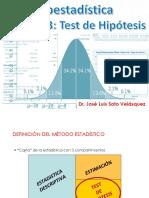 Estadística inferencial-TEST DE HIPÓTESIS por Bioq. José Luis Soto Velásquez (3-2)