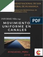 Lab 4 - Movimiento uniforme en canales
