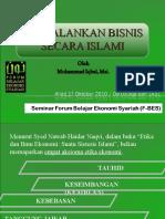 Menjalankan Bisnis Secara Islami - M Iqbal - Forum Belajar Ekonomi Syariah