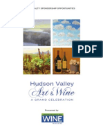 Sponsorship Opportunity - Celebration of Art and Wine in the Hudson Valley