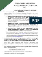 Instrucciones Federarse 2019 C