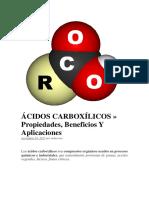 acidos carboxilocos