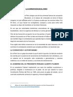 La Corrupción en El Perú - Etica - Lucero Fin