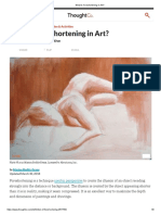 What is Foreshortening -Escorzo- In Art