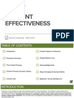 Content Effectiveness Benchmark Report