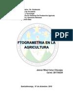 Fotogrametria en La Agronomia