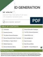 Demand Generation & SEO Benchmark Report