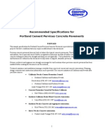Pervious Concrete Recommended Specification - 9-22-04