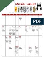 2019 Calendario Córdoba 2019 Numismática y Filatelia