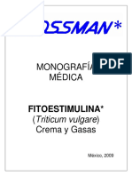 Monografía Médica. Fitoestimulina_ (Triticum Vulgare) Crema y Gasas