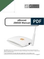 SOHO ZB545 Installation Manual