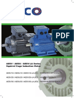 TECO AESV AESU AESV LA Series Squirrel Cage Induction Motor