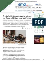 Comisión Mixta Aprueba Proyecto de Ley Pago a 30 Días Para Las Pymes _ Emol.com