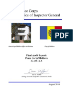 Peace Corps  Moldova Final Audit Report