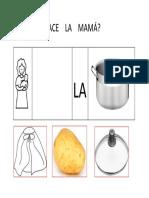 Ficha Que Hace La Mama Tapa Papa Capa