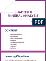 Chapter 8 Mineral Analysis